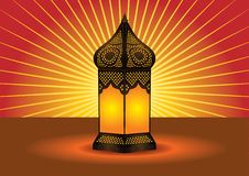 Colorful intricate islamic floor lamp Stock Images