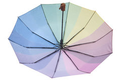 Colorful inverted umbrella, isolated on white background Royalty Free Stock Photo
