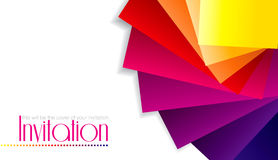 Colorful Invitation Card Royalty Free Stock Images