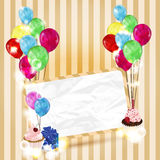 Colorful invitation card with space for text Royalty Free Stock Photography