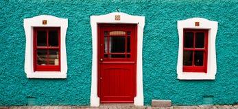 Colorful irish cottage Stock Images