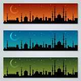 Colorful islamic banners vector collection Stock Photography