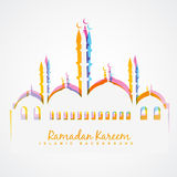 Colorful islamic festival background Royalty Free Stock Photo