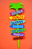 Colorful Island Sign Stock Images