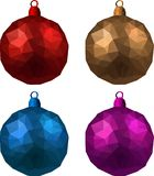 Colorful isolated Christmas balls set. Royalty Free Stock Images