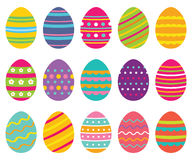 Colorful isolated Easter eggs Royalty Free Stock Photos