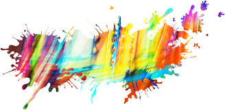 Colorful isolated paint pattern and splatter background with pai Stock Photos