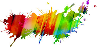 Colorful isolated paint pattern and splatter background with pai Stock Image