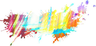 Colorful isolated pastel paint pattern and splatter background w Stock Images