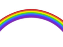 Colorful isolated plain curved rainbow Royalty Free Stock Images