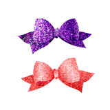 Colorful isolated shiny bows Stock Images