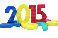 2015 in colorful on a isolated white. Background Royalty Free Stock Images