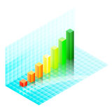Colorful isometric bar chart Royalty Free Stock Photography