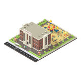 Colorful Isometric Children Playground Concept Royalty Free Stock Photography