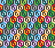 Colorful isometric geometric pattern Stock Photo