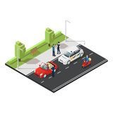 Colorful Isometric Traffic Concept Royalty Free Stock Photo