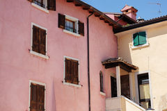 Colorful italian architecture Stock Images