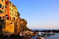 Colorful Italian coastal village Stock Image