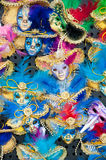 Colorful Italian Masquerade Masks. Often known as Venziana Masks stock photos