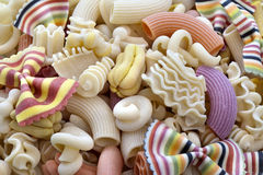 Colorful italian pasta Stock Images