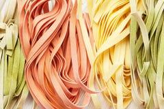 Colorful italian pasta Stock Image