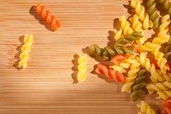 Colorful italian pasta. Stock Photo