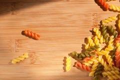 Colorful italian pasta. Royalty Free Stock Image