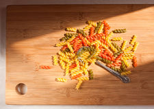 Colorful italian pasta. Royalty Free Stock Images