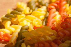 Colorful italian pasta. Stock Images