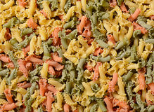 Colorful Italian pasta Royalty Free Stock Photography