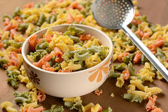 Colorful Italian pasta Royalty Free Stock Images