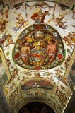 Colorful Italian Renaissance fresco Stock Photography