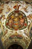 Colorful Italian Renaissance Fresco Stock Photography