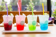 Colorful italian soda beverage royalty free stock photography