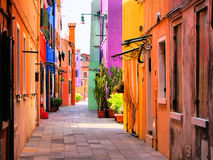 Colorful Italian Street Stock Photos