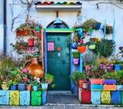 Colorful italian street detail