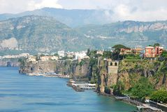 Colorful Italian town Sorrento. Italian riviera, beautiful Sorrento coast stock photos