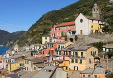 Colorful Italian village at the Mediterranean Royalty Free Stock Images
