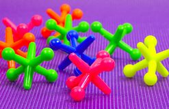 Colorful Jacks Royalty Free Stock Photo
