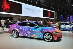 Colorful jaguar xf Royalty Free Stock Images