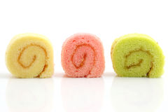 Colorful jam roll Stock Photography