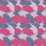 Colorful japanese fan seamless pattern Stock Photos