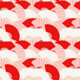Colorful japanese fan seamless pattern Royalty Free Stock Image