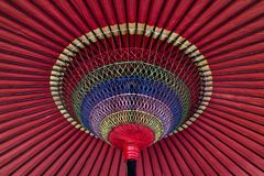 Colorful Japanese parasol Stock Image