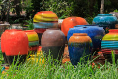 Colorful jars Royalty Free Stock Photos