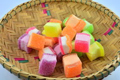 Colorful jelly basket Royalty Free Stock Photo