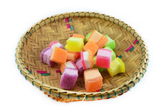 Colorful jelly basket Royalty Free Stock Photography