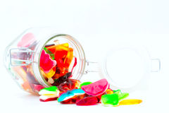 Colorful jelly beans Stock Images