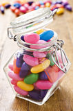 Colorful jelly beans in a bottle Royalty Free Stock Image