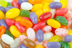 Colorful jelly beans candy in closeup Royalty Free Stock Photo